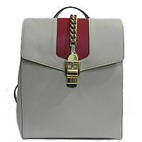 bcfb6261f142 Женская сумка-рюкзак Felicita 554 из натуральной кожи фабричная итальянская  молочного цвета