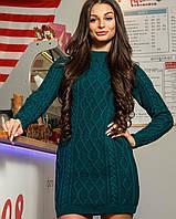 Женское вязаное платье-туника (Софи mrb)