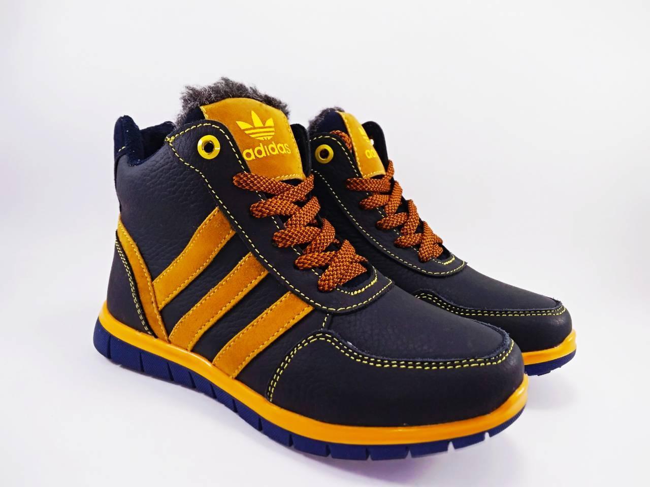 Черевики шкіряні Adidas рижі 30-34  продажа dd49a3521aba2