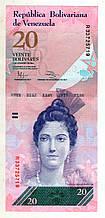 Венесуела 20 боліварів 2011 рік стан UNS