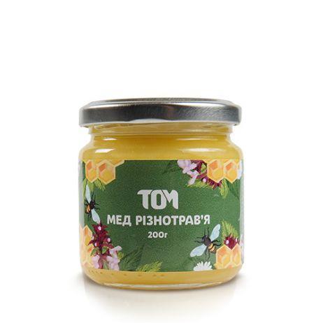Мед натуральный ТОМ - Разнотравье (200 грамм)
