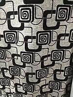 Рогожка на флоке меблева тканина для оббивки м'яких меблів ширина тканини-150 см сублімація 3022-квадрат сірий