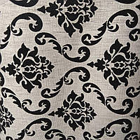Мебельная ткань рогожка на флоке для мягкой мебели