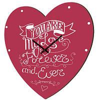 Настенные часы в форме сердца You are My Love 36х36 см (CHS_P_16L047)