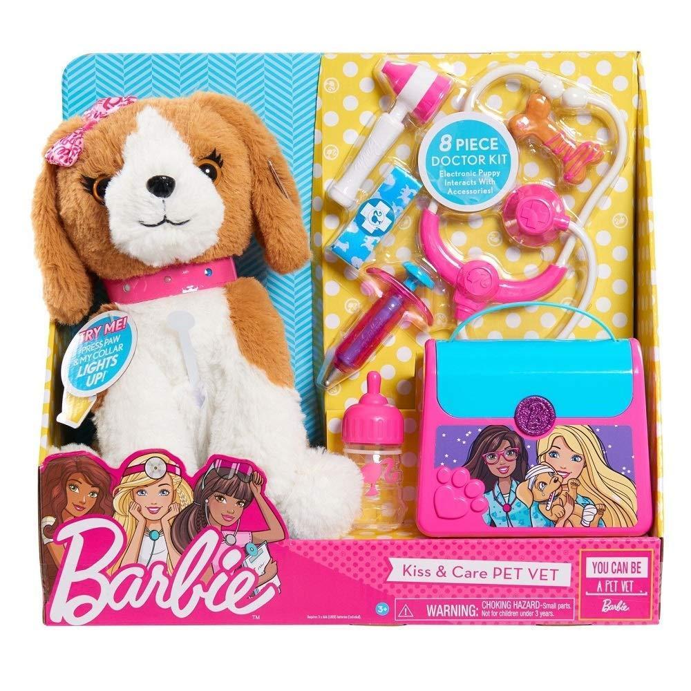 Интерактивная собачка щенок Барби Набор доктора врач ветеринар Barbie Pets Doctor Set-Brown & White Puppy