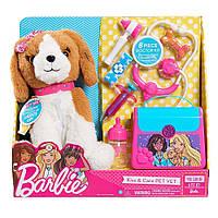 Интерактивная собачка щенок Барби Набор доктора врач ветеринар Barbie Pets Doctor Set-Brown & White Puppy, фото 1