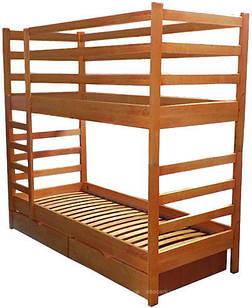 Ліжко двоярусне в дитячу кімнату з дерева Твікс 90*200  трансформер Sovinion