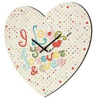 Настенные часы в форме сердца I Love You forever & ever 36х36 см (CHS_P_16L048)