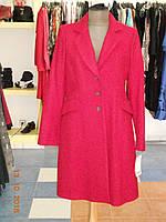 Нарядное красное женское пальто со складами на спинке Sinequanone
