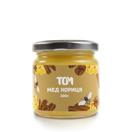 Мед натуральний ТОМУ - Кориця (200 грам)