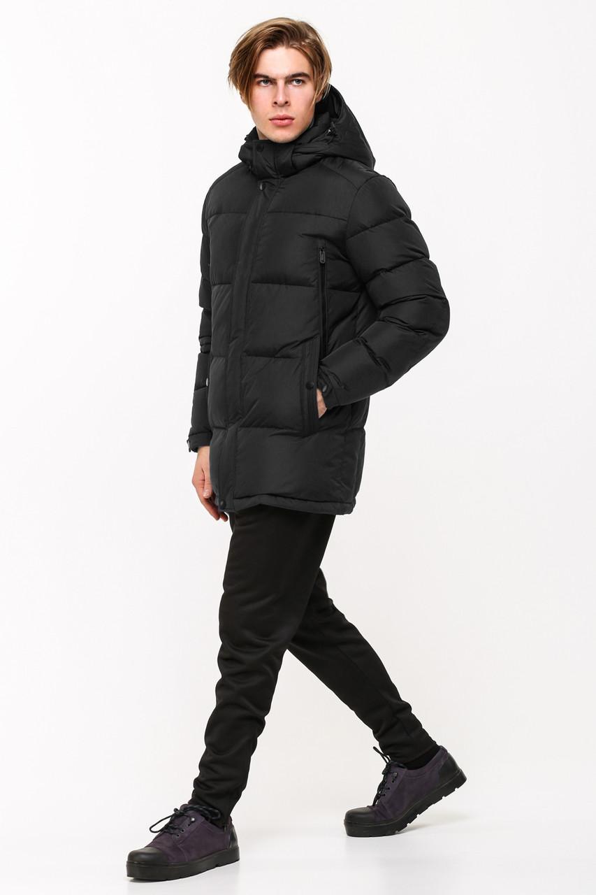 Мужская зимняя батальная куртка SOOYT SOT17-M1168B черная (#901)