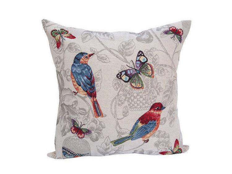Наволочка гобеленовая декоративная Птички-Бабочки 45х45 см NG0053