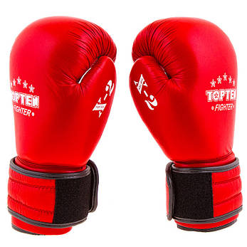 Боксерские перчатки TopTen X-2 кожа 8oz красные, фото 2