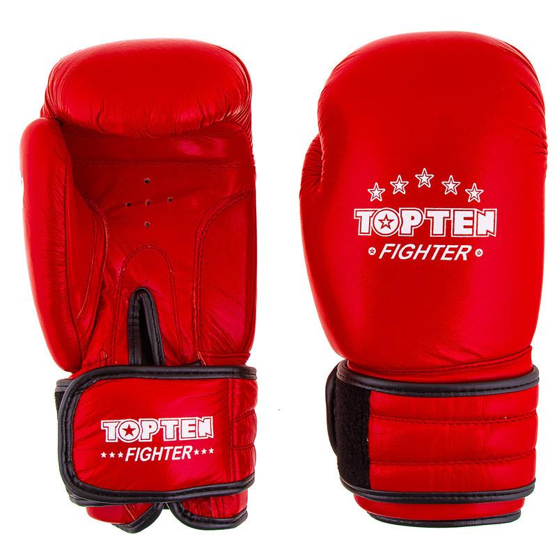 Боксерские перчатки TopTen X-2 кожа 8oz красные