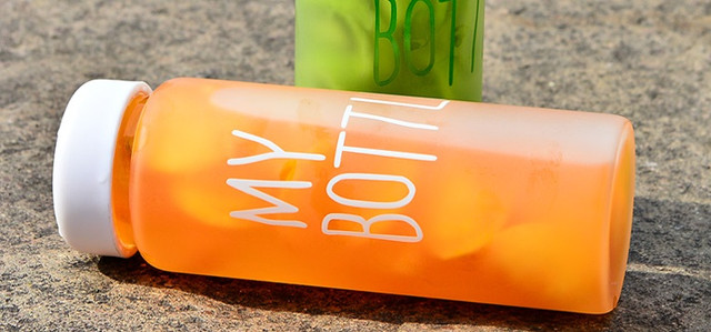 Бутылочка для воды My Bottle (Май ботл) в чехле, белая
