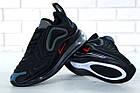 Мужские спортивные кроссовки Nike Air Max 720 Black (Найк Аир Макс 720) черные, фото 6