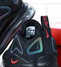 Мужские спортивные кроссовки Nike Air Max 720 Black (Найк Аир Макс 720) черные, фото 10