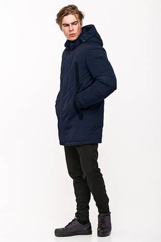 Зимняя мужская куртка в стиле кэжуал SOT17-M1189 синяя (#404), фото 2