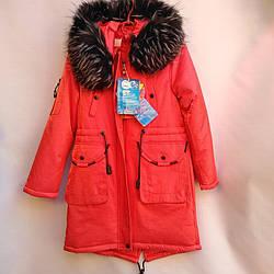 Подростковое пальто-парка 140-164 Зима 1065