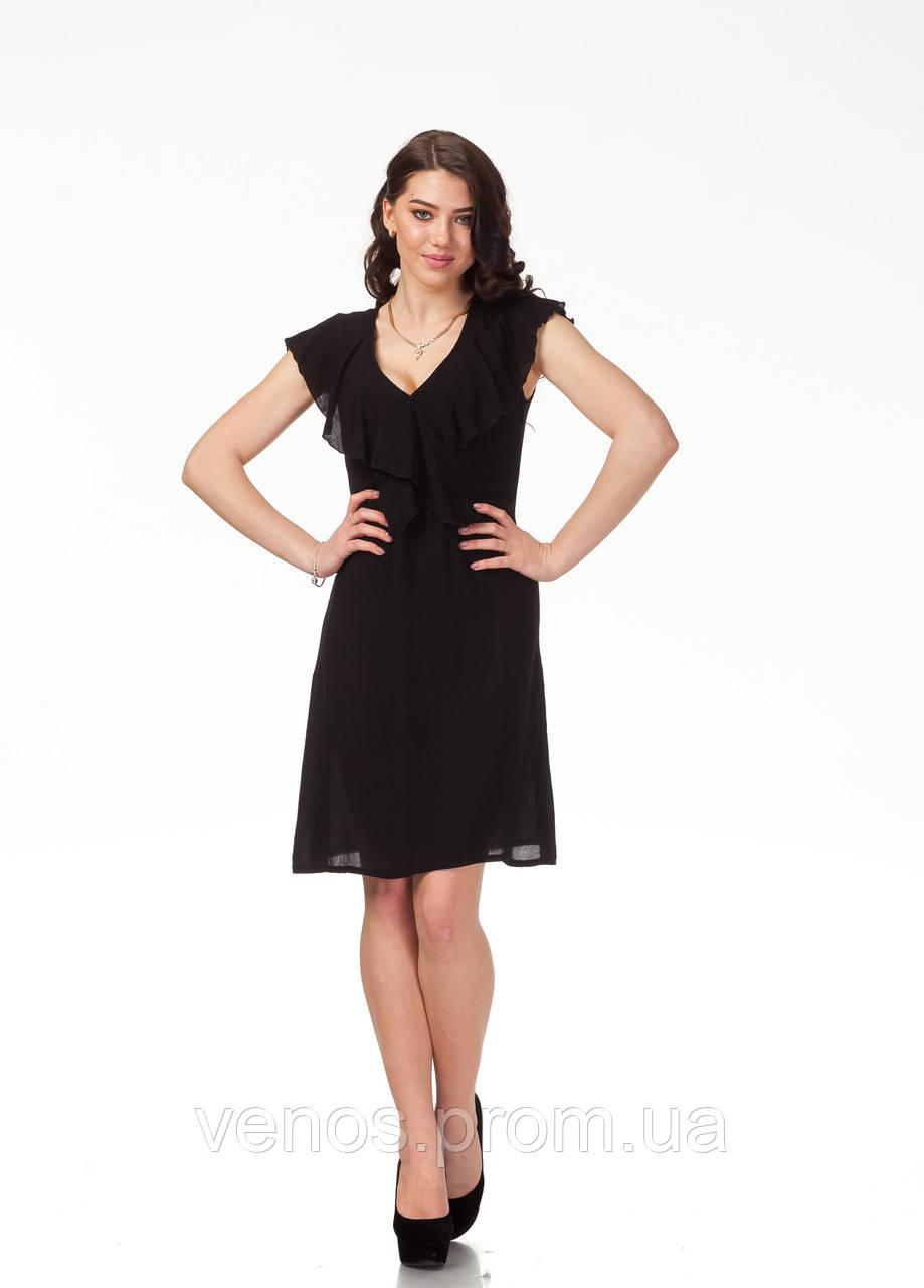 Нежное  летнее платье. П113_розовая клетка хлопок