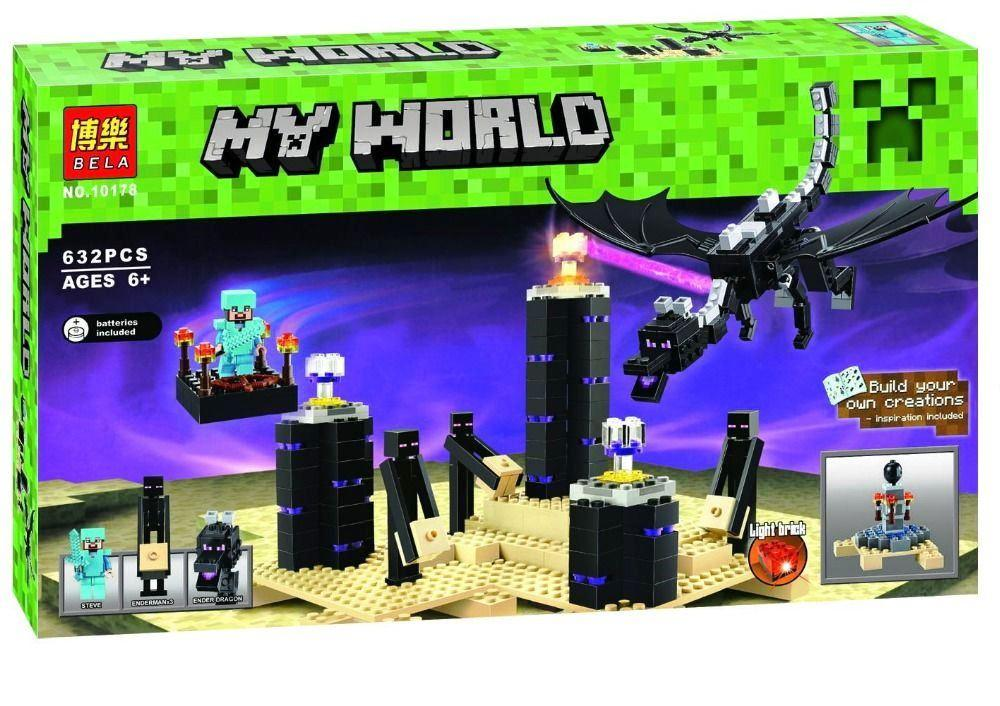 Конструктор Bela 10178 Minecraft Майнкрафт Дракон Края Эндер 632 деталей
