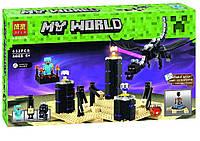 Конструктор Bela 10178 Minecraft Майнкрафт Дракон Края Эндер 632 деталей, фото 1
