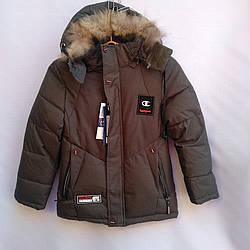 Детская куртка 116-140 Наушники- Зима 710312