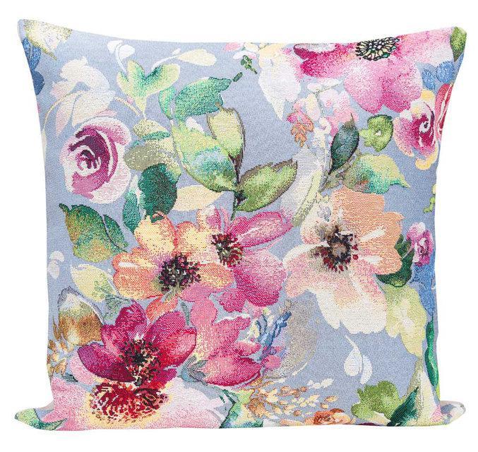 Наволочка гобеленовая декоративная Цветущий сад см KISS401