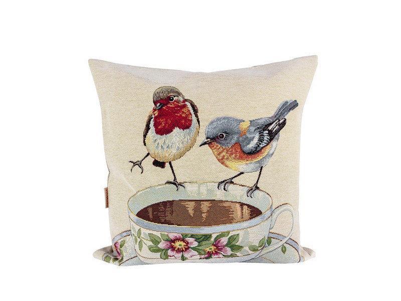 Наволочка гобеленовая декоративная Птицы 45х45 см NG05