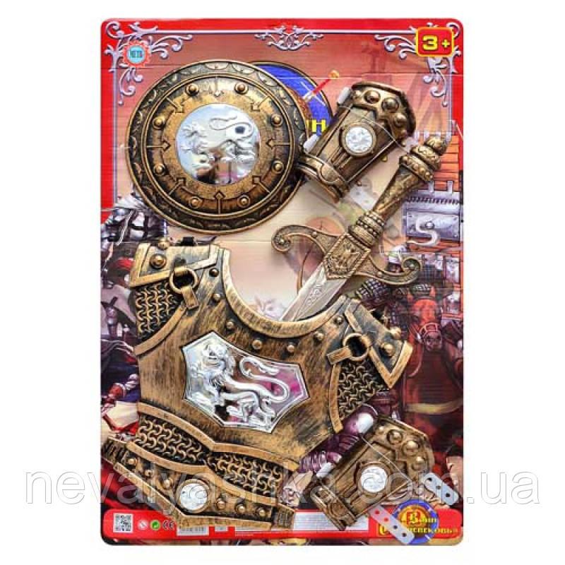 Игровой Набор Рыцаря на листе меч щит нарукавники,  JT 339 A 12, 009466