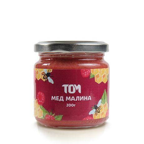 Мед натуральный ТОМ - Малина (200 грамм)