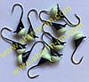 Блешня вольфрамова Bravo 1140-52P 4,0 мм 0,99 гр. з Фосфором Крапля з вушком