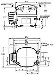 Герметичный поршневой компрессор AEZ1365Y Tecumseh, фото 2