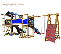 """Детские домики для улицы """"Сказка 12"""" Горка Башня Мостик Качели Скалодром"""