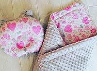 Детское одеялко конверт в кроватку плюшевое зимнее минки, фото 1