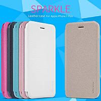 "Кожаный чехол (книжка) Nillkin Sparkle Series для Apple iPhone 7 plus / 8 plus (5.5"")"