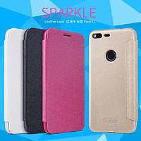 Кожаный чехол (книжка) Nillkin Sparkle Series для Google Pixel XL
