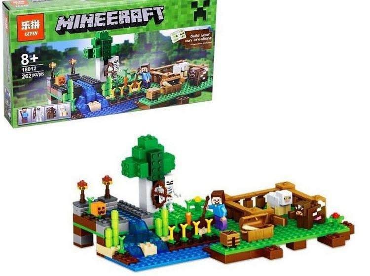 Конструктор Lepin 18012 Minecraft Майнкрафт Ферма 262 детали