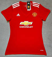 Женская Футболка Манчестер Юнайтед сезон 2017-2018 (красная), фото 1