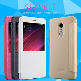 Кожаный чехол (книжка) Nillkin Sparkle Series для Xiaomi Redmi Note 4X / Note 4 (SD)