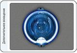 Фара дальнього світла Ø 183 мм Wesem HOS2.38810 з габаритом LED RING блакитна, фото 2