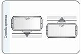 Фара дальнього світла 182х86х81 мм Wesem HP4.18479 хром з решіткою, фото 5