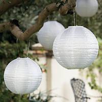 Фонарь бумажный белый (d-20 см). Китайский подвесной фонарик