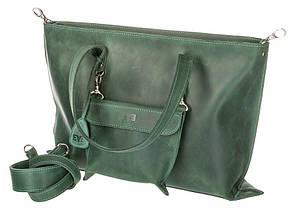 159569ef8fca Женская сумка кожаная Level Лиса green зеленый