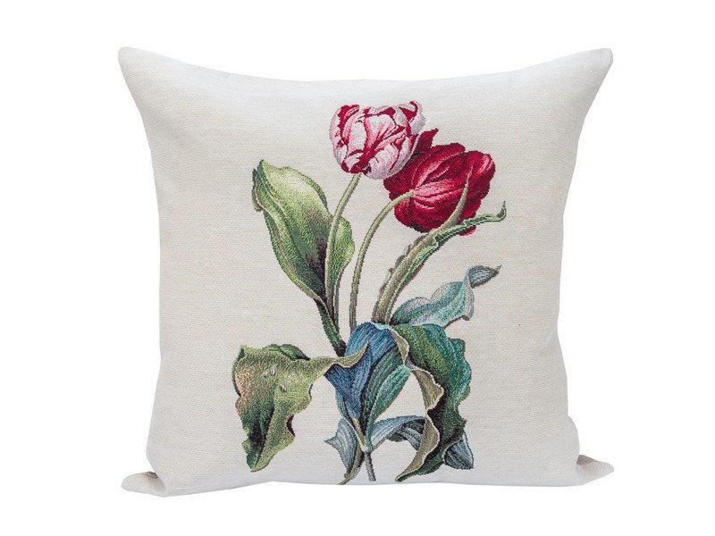 Наволочка гобеленовая декоративная Тюльпаны 45х45 см NG46