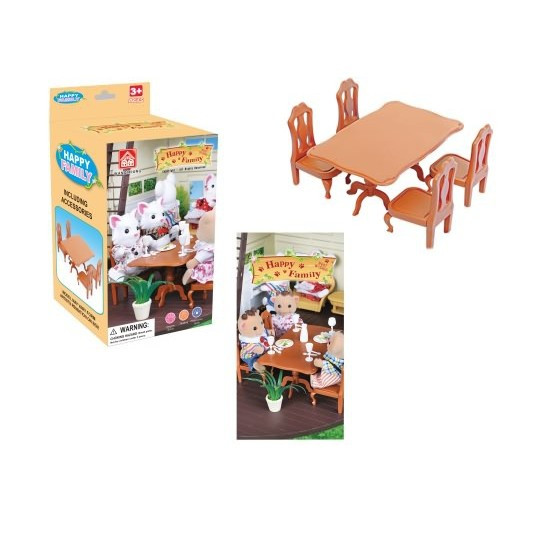 """Набір меблів """"Happy Family"""" Стіл і чотири стільці. 012-01B"""