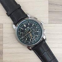 Мужские Черные Наручные Часы Patek Philippe Grand Complications Alternative Black-Silver-Black