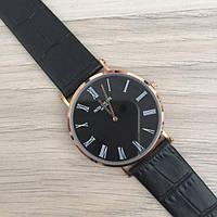 Мужские Черные Наручные Часы Patek Philippe Calatrava Gold-Black Rome AAA-класса