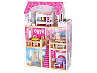 Кукольный домик деревянный EcoToys Малиновая Резиденция