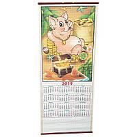 Календарь из бумажной соломки на 2019 год (76х31,5 см)